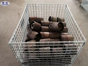 Cina Galvanized Wire Mesh Pallet Containers High Strength Dengan Long Service Life pemasok