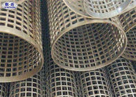 Cina Semprotan Pelapis Stainless Steel Welded Perforated Slotted Tube Filter Silinder perusahaan