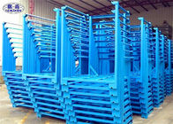 Heavy Duty Steel Stacking Racks Blue Metal 4 Layers For Crops Storage