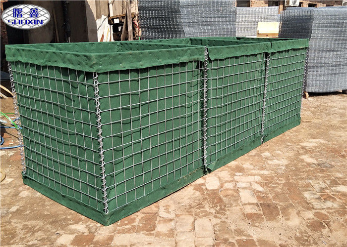 "Q195/Low Carbon Steel Wire Military Hesco Sand Filled Barriers Hole Size 3"" * 3"""