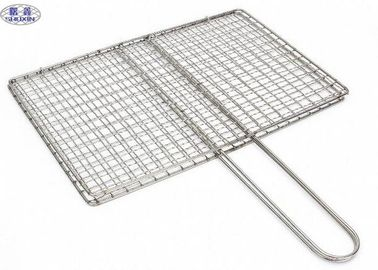 Square Barbecue Grill Wire Mesh, Stainless Steel BBQ Grill Mesh ISO Certificated