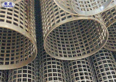 Semprotan Pelapis Stainless Steel Welded Perforated Slotted Tube Filter Silinder
