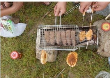 Portable Barbecue Grill Wire Mesh, Outdoor Barbecue Grill Netting Untuk Ikan Panggang
