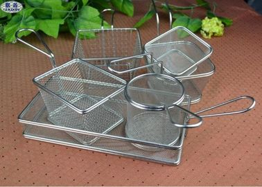 Cina Customized Stainless Steel Rectangular Fryer Melayani Keranjang 26x13x4.5cm pabrik