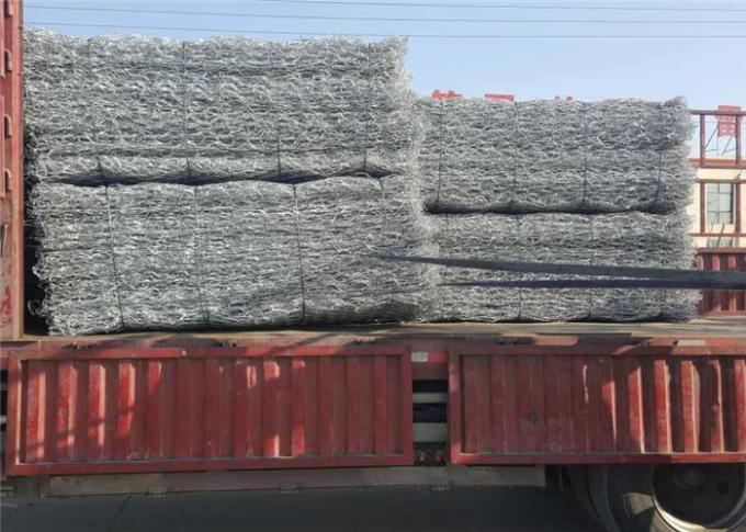 Foldable Stone Filled Woven Gabion Wire Mesh usd for River Project and Under Bridge